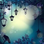 Link toCartoon street lamp background vector set 04