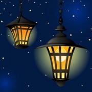 Link toCartoon street lamp background vector set 05