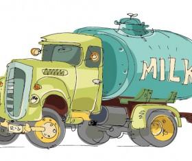 Lovely Hand draw Cartoon car vector set 01
