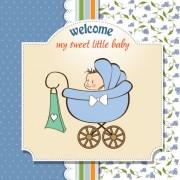 Link toCartoon baby card vector 03