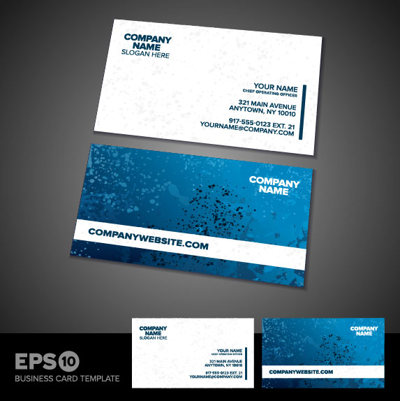 Business card templates vector 01 vector other free download for Business card eps template