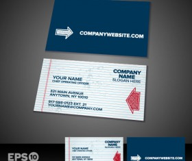 Business card templates vector 04