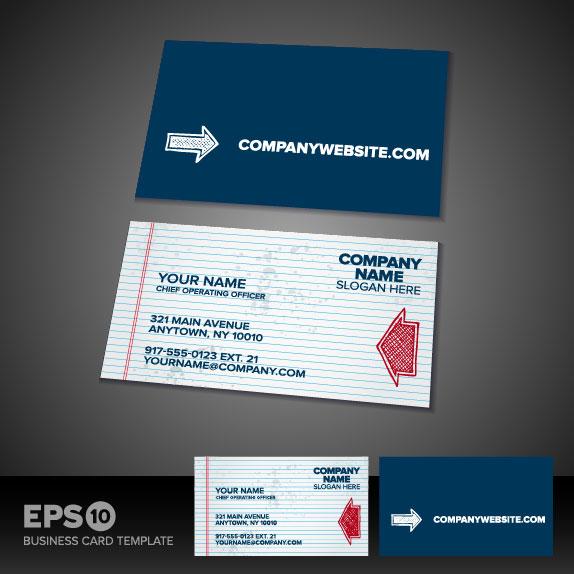Business card templates vector 04