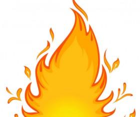 Cartoon Flame vector 01