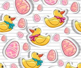 Cartoon Color Eggs Illustration vector 01