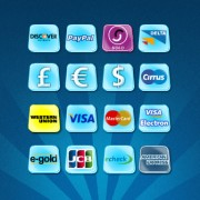 Blue style payment icons