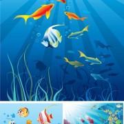 Link toBeautiful cartoon marine scenes vector