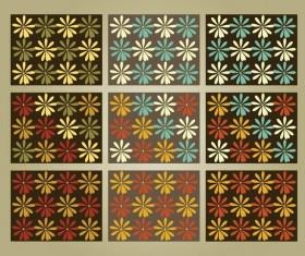 free Flower Patterns vector