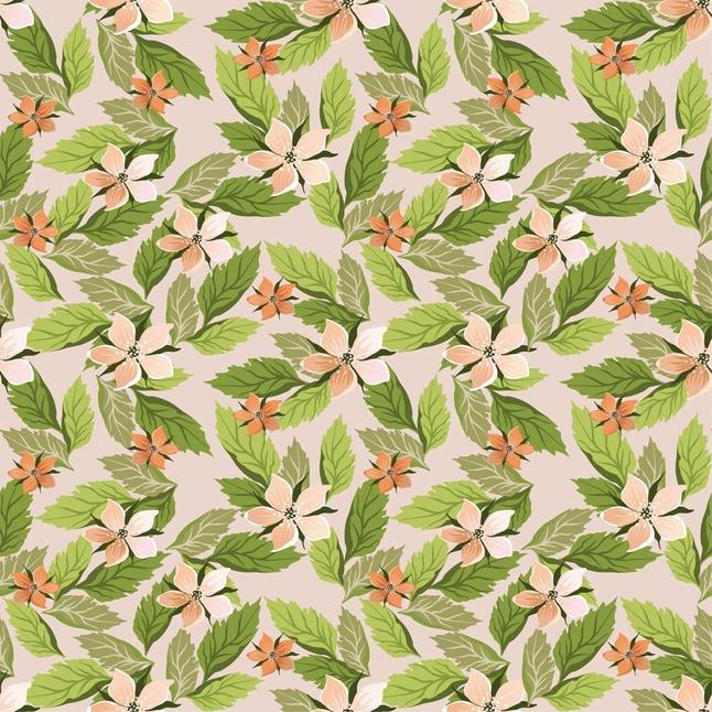 Simple Flower Pattern Wallpaper Flowers Wallpaper Pattern