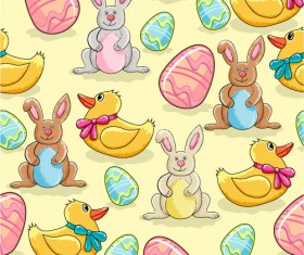 Cartoon Color Eggs Illustration vector 02