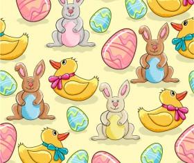 Cartoon Color Eggs Illustration vector 02