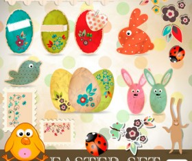 Cartoon Color Eggs Illustration background vector 01