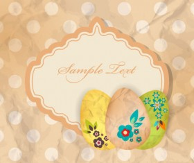 Cartoon Color Eggs Illustration background vector 02