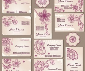 Exquisite Floral Card template vector 02