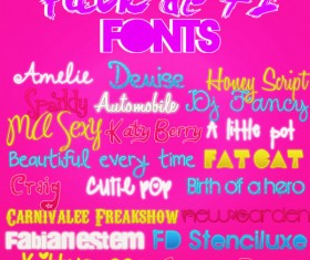 72 kind Perfect font