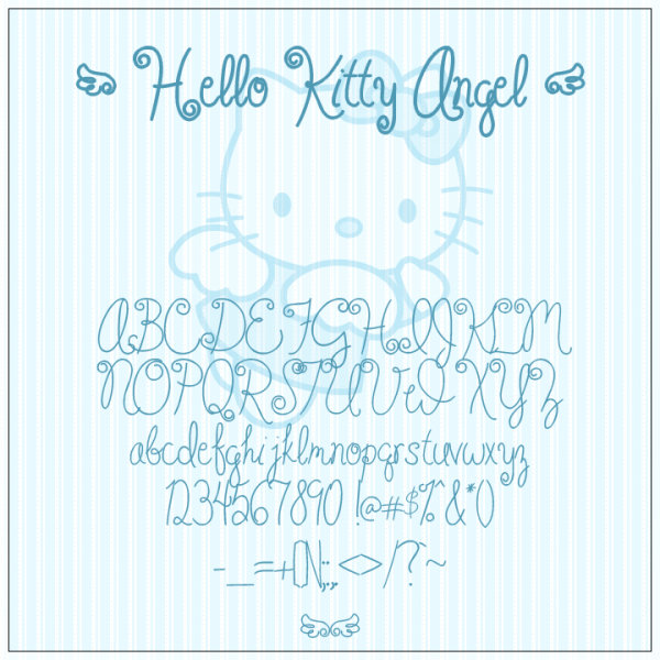 Hello Kitty font
