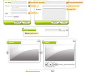 Login Interface – PSD Stratified Material