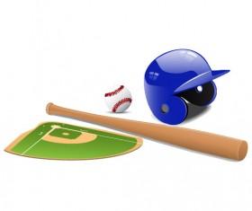 sports equipment vector set 01