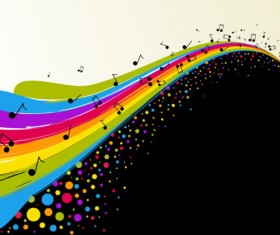 Color notes background 01 vector