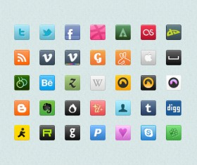 Small fine Icons – PSD Stratified Material