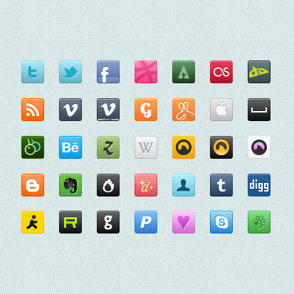 Small fine Icons   PSD Stratified Material