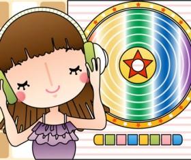 Cartoon music Illustration vetcor 02