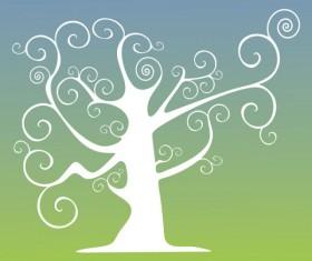 Elegant Tree branch silhouette vector 04