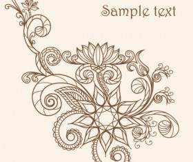 The line of draft  of Exquisite  Floral vector 02