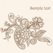 Link toThe line of draft  of exquisite  floral vector 03