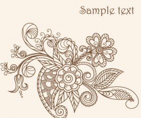 The line of draft  of Exquisite  Floral vector 03