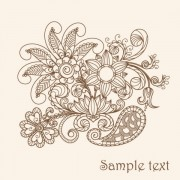 Link toThe line of draft  of exquisite  floral vector 04