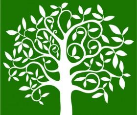 Elegant Tree branch silhouette vector 05