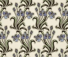 Floral background vector Set 04