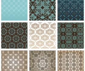 Exquisite Decorative pattern background 01 vector