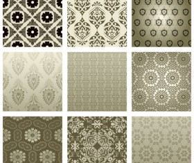 Exquisite Decorative pattern background 02 vector