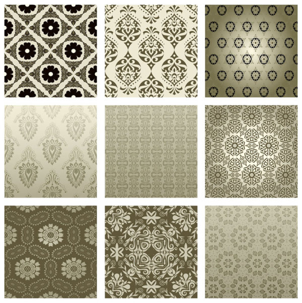 Exquisite Decorative pattern background 02 vector