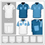 Link toMan short sleeve t-shirt working outfit vector 01