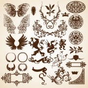 Link toEuropean style decorative pattern frame 01 vector
