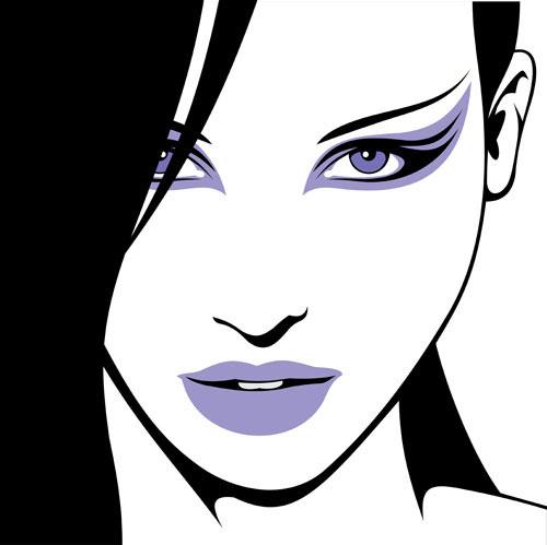 Belle Silhouette 04 vector