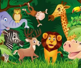 Cartoon animal 02 vector