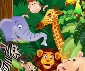 Cartoon animal 03 vector