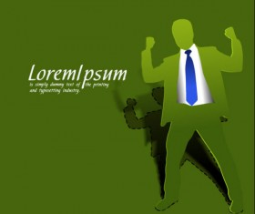 Origami personage Template 02 Vector