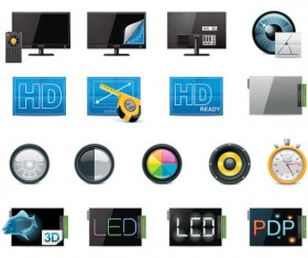 Science and technology Product Icons set 01 vector