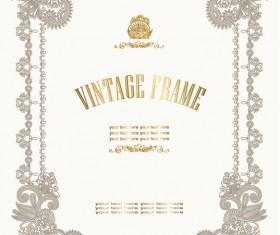 European style Decorative pattern  Certificate Template vector 01