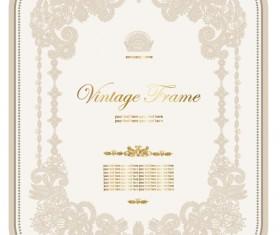 European style Decorative pattern  Certificate Template vector 02