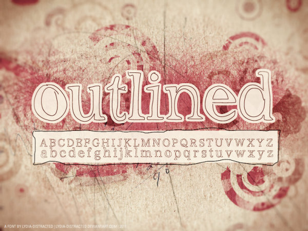 Decadent style font