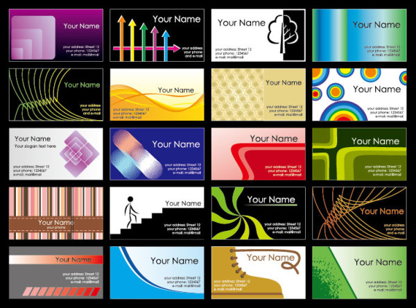business card powerpoint templates free