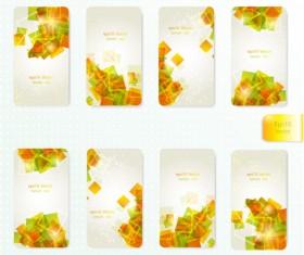 Dynamic Brilliant Card background vector 01