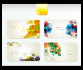 Dynamic Brilliant Card background vector 02