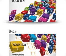 Dynamic Brilliant Card background vector 04